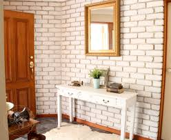 Painted brick wall - Miss Mustard Seed's Milk Paint ...