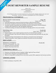 House Painter Resume Court Reporter Resume Sample Resumecompanion Com Law