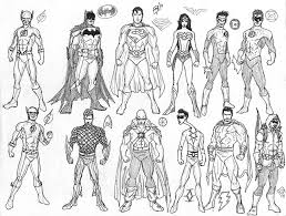 Small Picture Free Printable Coloring Sheet Of Justice League America within