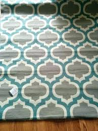 turquoise and gray area rug