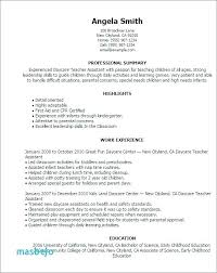Resume For Preschool Teacher Preschool Teacher Resume Examples