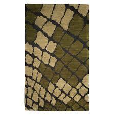 tufenkian modern green black wool rug 5640