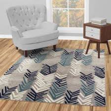 jasmin collection contemporary fl design gray and navy 7 ft x 9 ft area