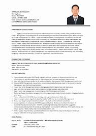 Resume Samples For Experienced Civil Site Engineer New Creative