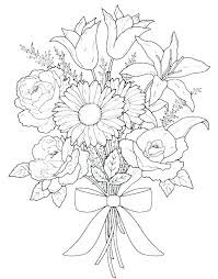 Flower Coloring Pages To Print Artigianelliinfo