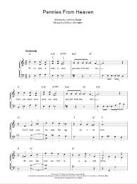 heaven piano sheet music pennies from heaven sheet music direct