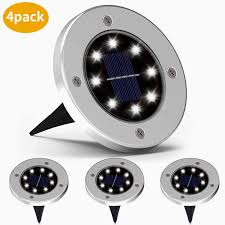 Solar Light Packs Yan G 4 Packs Solar Disk Lights Outdoor Led Waterproof