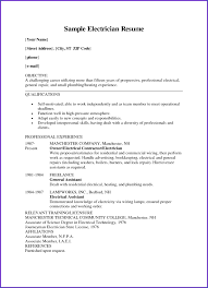 Electrical Technician Resume Sample Electrician Resume Sample Doc Electrician Resume Format Electrical 37
