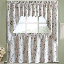 english garden fl jacquard kitchen curtains 24 inch 36 inch kitchen curtains set of 38 inch swag pair or 12 inch valance white