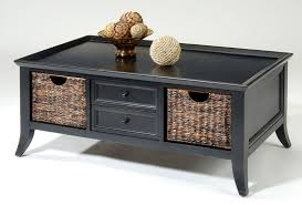 black coffee table with storage drawers decorative table