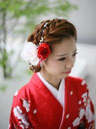 髪型 ロング 和服