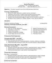 Example Entry Level Pharmacy Technician Resume