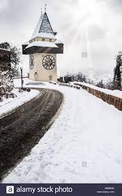 Blick Nach Graz Im Winter Stockfotos Blick Nach Graz Im