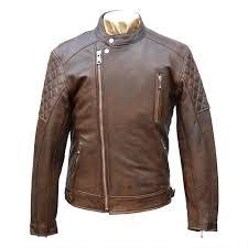 goldtop brown bobber leather motorcycle jacket
