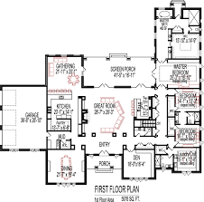 Floor Plan 5 Bedrooms Single Story  Five Bedroom New American 2200 Sq Ft House Plans