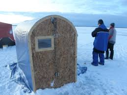 bwca homemade portable collapsible ice hut boundary waters fishing forum