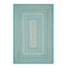 waterfall blue ultra wool braided rugs in usa