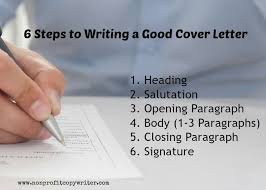 Steps To Writing A Cover Letter For Resume Writing A Good Cover Letter A Step By Step Writing Guide Tips For