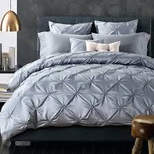 luxurious silk bedding set ruffle bed linen sets king queen size bedspread gray duvet cover wedding charcoal grey