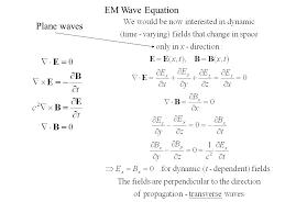 20 em wave equation plane waves