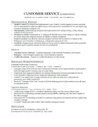 Great Customer Service Resume Unitus Info