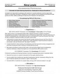 Resume Skills Examples Housekeeping Best Professional Resume Unique Housekeeping Resume Skills
