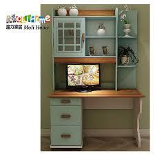 village terranean combination of solid wood bookcase desk bookcase computer desk combo design