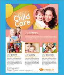 Baby Daycare Flyer Template Children Care Flyer Magazine Ad