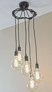 hanging spiral bulb chandelier retro bulbs with a modern design edison big lots