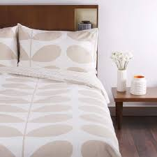 orla kiely giant stem print duvet cover clay king size at amara