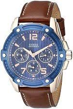 guess watches for men new used guess men s u0600g3 casual sport blue face brown leather strap watch