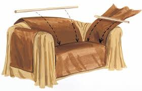 how to make furniture covers. Dowels Keep Wrap In Place How To Make Furniture Covers I