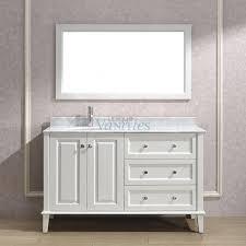 55 inch double sink bathroom vanity:  inch single sink bathroom vanity with choice of top in white