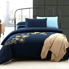 navy blue bedding set black and blue comforter set elegant navy blue and yellow cotton bedding