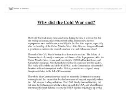 why did the cold war end gcse history marked by teachers com document image preview