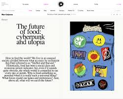 the future of food cyberpunk utopia o editorial luis maz atilde sup n
