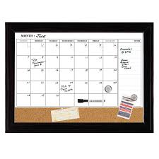 Framed Dry Erase Board Amazoncom Quartet Dry Erase Calendar Board Magnetic