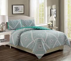 destin aqua gray reversible comforter set queen