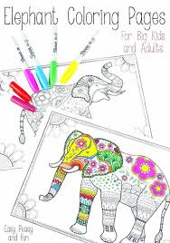 Mindfulness Colouring Printable A4 Free Printable Elephant Coloring