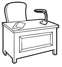office desk clipart black and white. Simple And Office Desk Black And White Clipart Unique Fice  Clipartxtras Intended And D