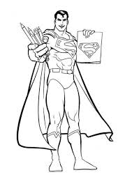 The emblem worn on superman's costume. Free Printable Superman Coloring Pages For Kids