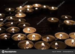 Symbolen Van Islam Kaars Lampjes Zwarte Achtergrond Abstracte