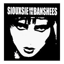 siouxsie and the banshees logo with face screenprinted sew on or pin on cloth patch ad