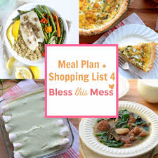 Family Meal Plans Family Meal Plan 4 With Printable Shopping List Bless This Mess