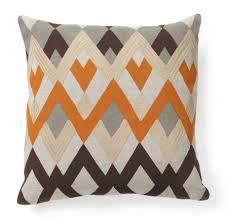 diamond echo orange pillow