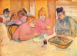 s around a dinner table toulouse lautrec henri de painting