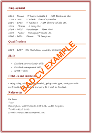 Cv Cleaner Cv Examples Example Of A Good Cv Biggest Mistakes To