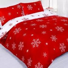 Falling Snowflakes Quilt by LivingQuarters at .bonton.com   Red ... & Snowflake Red White Pattern Printed Double Duvet Quilt Cover Bedding Set,  http:// Adamdwight.com