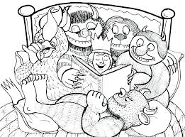 Where The Wild Things Are Coloring Pages Coloring Things Coloring