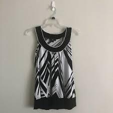 Iz Byer California Dress Size Chart Details About Iz Byer California Womens Black White Sleeveless Top Halter Tank Top Size S
